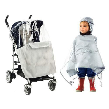 Poncho (pluie) gris Chicco