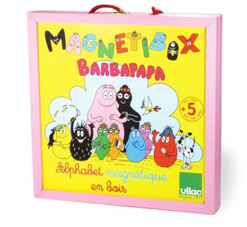 Coffret ardoise 54 magnets barbapapa Vilac